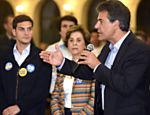 Beto Richa, candidato do PSDB ao governo do Paraná, participa de encontro com a comunidade árabe em Curitiba
