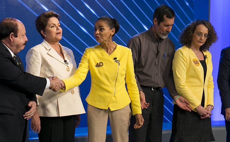 Debate na Globo de candidatos à Presidência