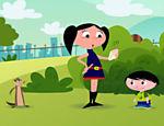 A animação apresenta os personagens Luna, Júpiter, seu irmão mais novo, e Cláudio, o furão de estimação da família
