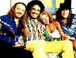 Os cantores Geraldo Azevedo, ZéRamalho, Elba Ramalho e Alceu Valença, em 1996