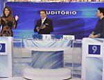 Silvio Santos recebe Lívia Andrade e Robson Jassa no
