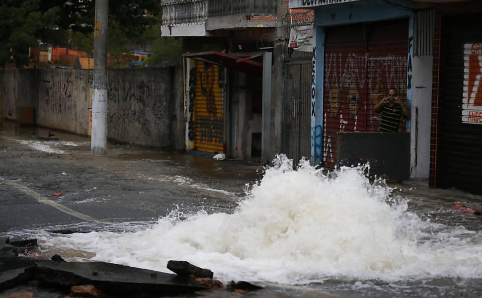 Vazamento de água em São Paulo