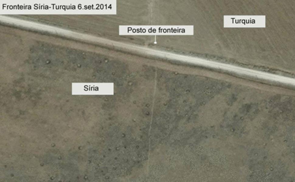 Antes e depois da destruição em Kobani