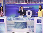 Rosana Jatobá, Silvio Santos e Isabella Fiorentino no