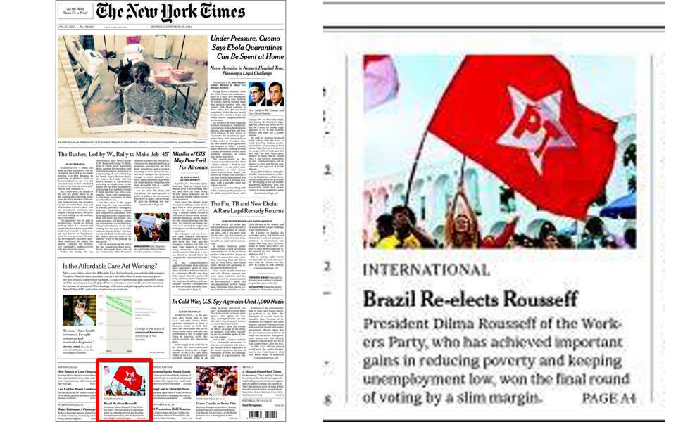 Jornais do mundo destacam reeleição