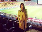 Carol Muniz publica imagem do estádio na Turquia, onde foi assistir ao jogo da seleção