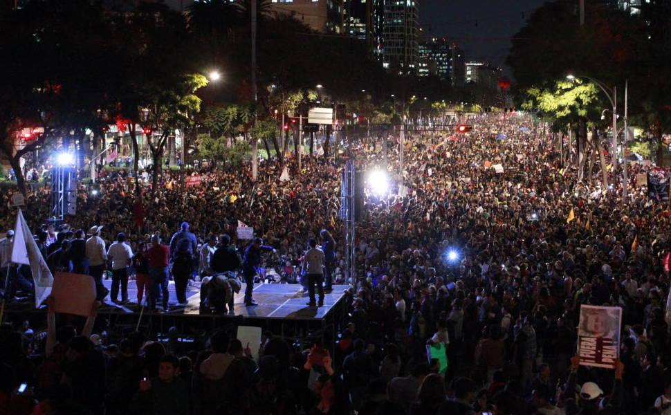 Manifestação na Cidade do México