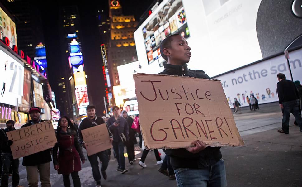 Manifestações sobre caso Garner em Nova York em 2014