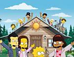 Cena do primeiro episódio da 22ª temporada da animação 'Os Simpsons', com desenhos dos personagens da série 'Glee'