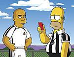 O jogador Ronaldo contracena com Homer no episódio 'Marge Gamer' do seriado 'Os Simpsons', exibido dia 22 de abril de 2007