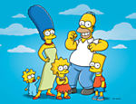 Os personagens da animação 'Os Simpsons', Maggie, Marge, Lisa, Homer e Bart