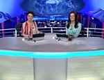 Sandra Annenberg e Patrícia Poeta apresentam o 'Jornal Nacional' de 8 de março de 2014