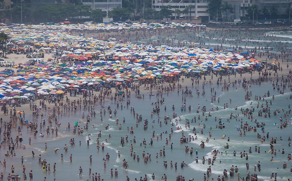 Férias ensolaradas no litoral de SP