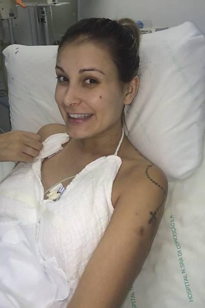 Andressa Urach no hospital