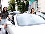 Bruna Marquezine e Ingrid Guimarães vão às compras em Miami