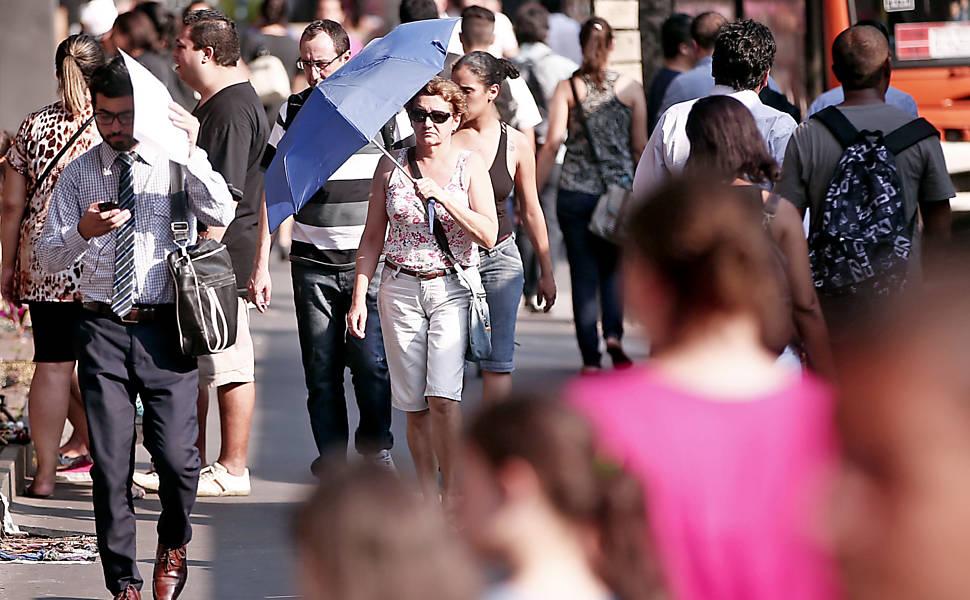 SP registra a tarde mais quente do verão