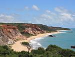Praia naturista de Tambaba localizada no município do Conde, litoral sul da Paraíba