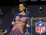 Katy Perry no intervalo do 49º Super Bowl, em Phoenix, nos EUA