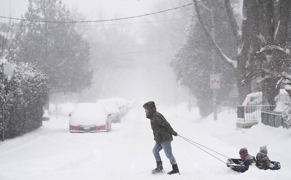 Diversão na neve