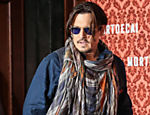 Johnny Depp promove o filme