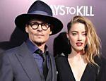 Johnny Depp e Amber Heard na pré-estreia do filme