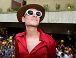 O DJ Tata Aaeroplano foi ao bloco, que desfilou no sábado (8)