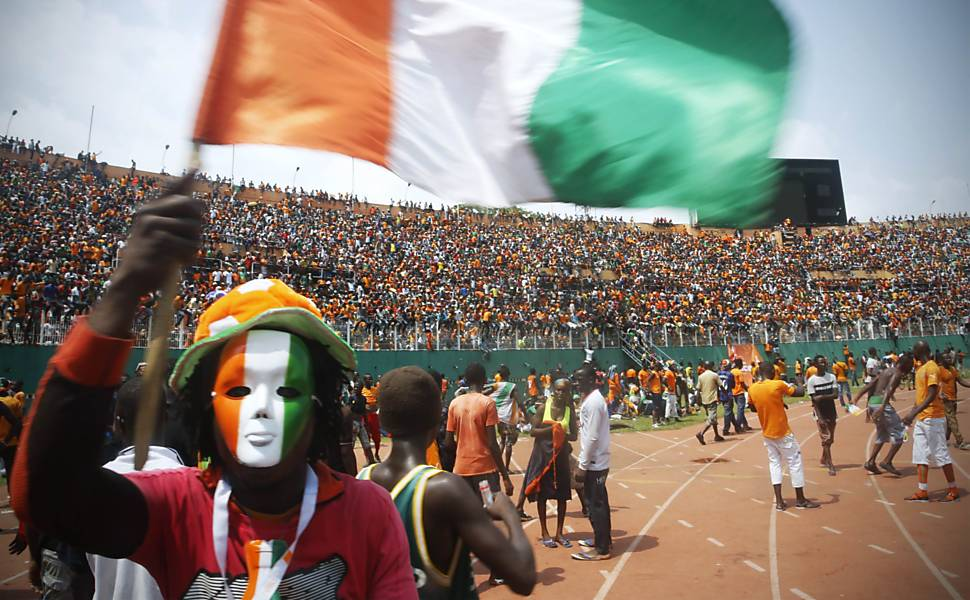Tumulto na recepção da Costa do Marfim