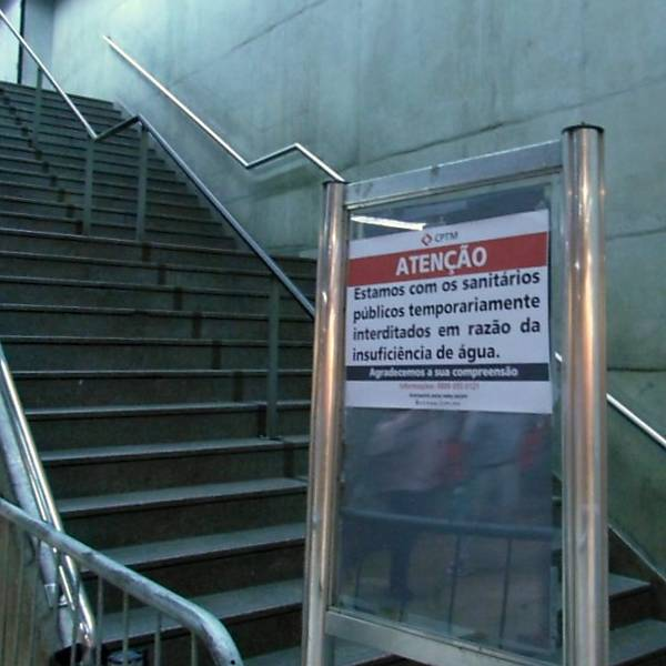 CPTM interdita banheiros devido falta d´'água