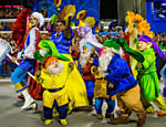 Cacau Protásio desfila na Comissão de Frente da União da Ilha no segundo dia do Carnaval do Rio de Janeiro na Sapucaí <a href=
