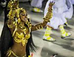 Cris Vianna no desfile da Imperatriz Leopoldinense no segundo dia do Carnaval do Rio de Janeiro na Sapucaí <a href=