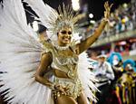 A rainha de bateria Juliana Alves no desfile da Unidos da Tijuca no segundo dia do Carnaval do Rio de Janeiro na Sapucaí <a href=