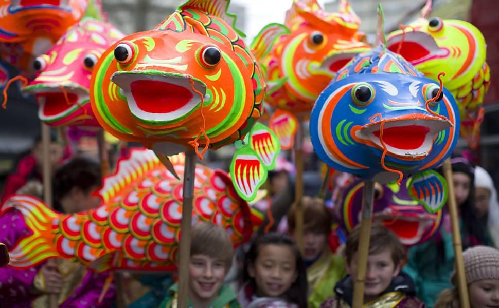 Crianças no Ano-Novo chinês