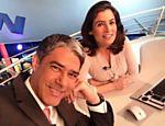 William Bonner e Renata Vasconcellos, apresentadores do