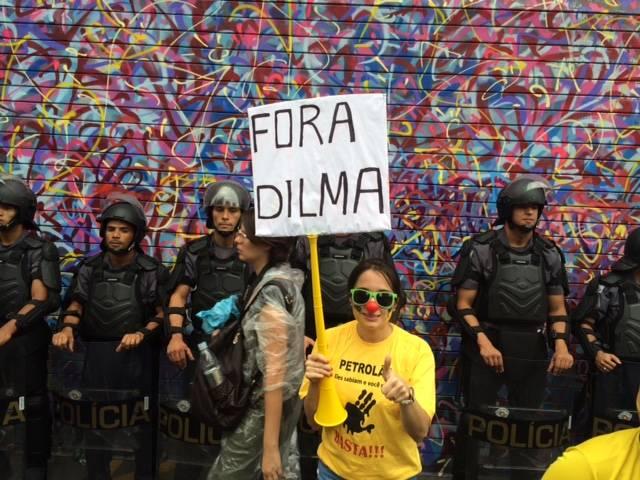 Fotos dos leitores nas manifestações contra o governo