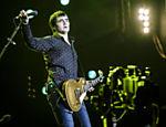 A banda Skank durante apresentação no palco Mundo, no Rock in Rio, em 2014