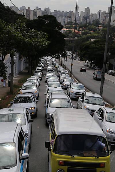 Manifestação de Taxistas no Pacaembu