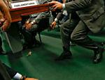 Seguranças tentam recolher os ratos na CPI da Petrobras