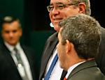 Segurança da Câmara com um dos ratos soltos na CPI da Petrobras