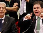 Os deputados Antônio Imbassahy e Hugo Motta (Vice-presidente e Presidente da CPI)  durante depoimento do ex-tesoureiro do PT João Vaccari Neto