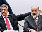 O relator da CPI, Luiz Sérgio (PT-RJ), e o ex-tesoureiro do PT Vaccari Neto durante depoimento