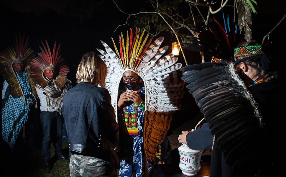 Ritual da cultura Iauanauá da tribo Mutum