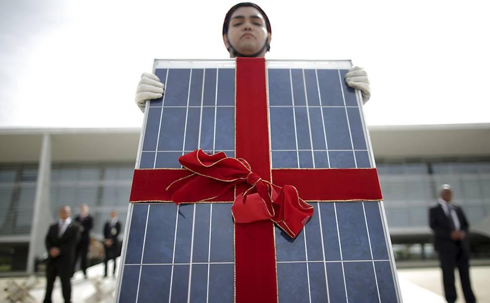 Protesto a favor da energia solar