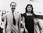 Pietro Maria Bardi e a arquiteta Lina Bo Bardi em 1947
