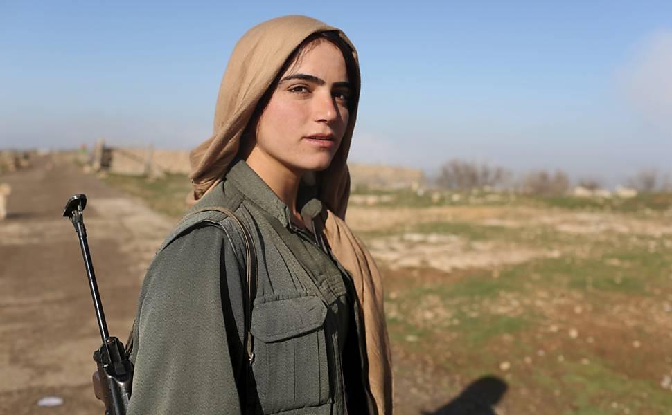 Guerreiras curdas contra o Estado Islâmico