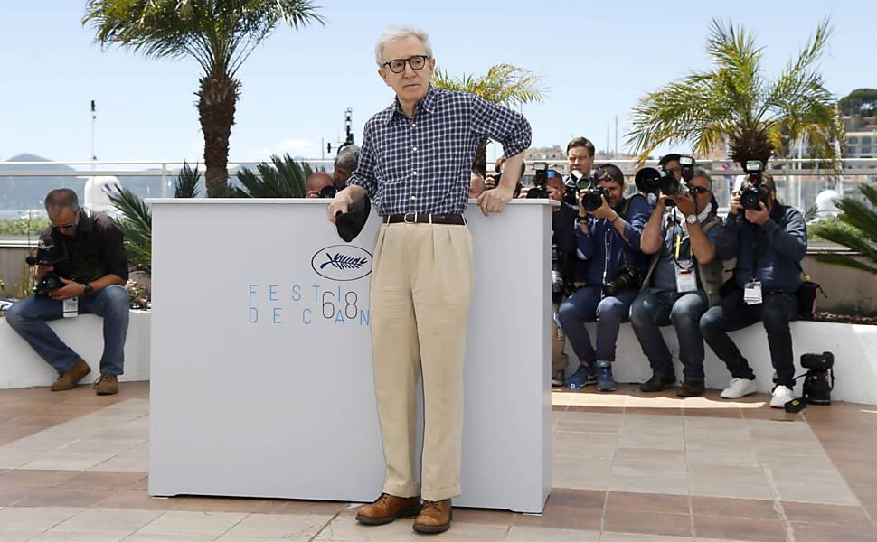 Veja fotos de Woody Allen no Festival de Cannes de 2015