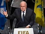 Joseph Blatter fala na abertura do congresso da Fifa