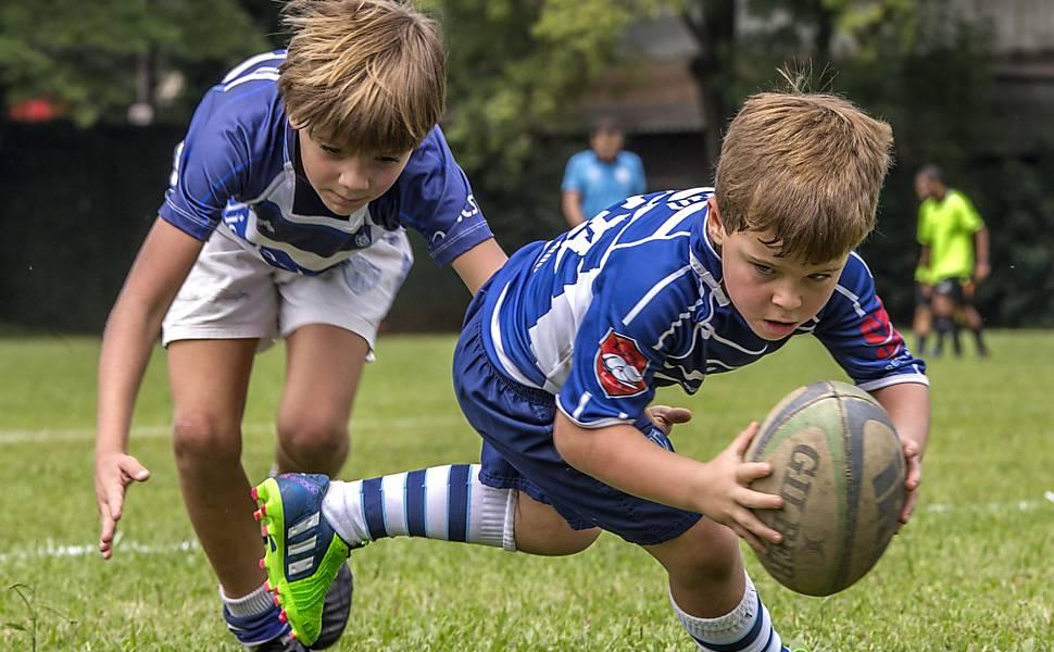 Crianças no rugby
