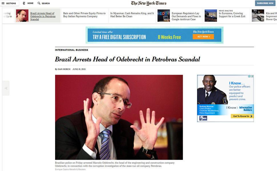 Repercussão da prisão de Marcelo Odebrecht, em 2015