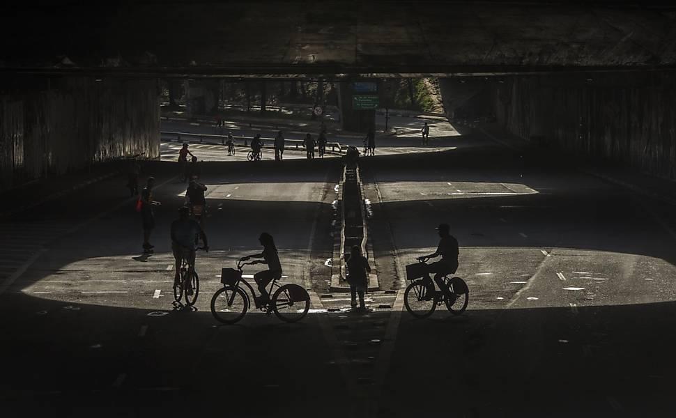 Inauguração da ciclovia na av. Paulista