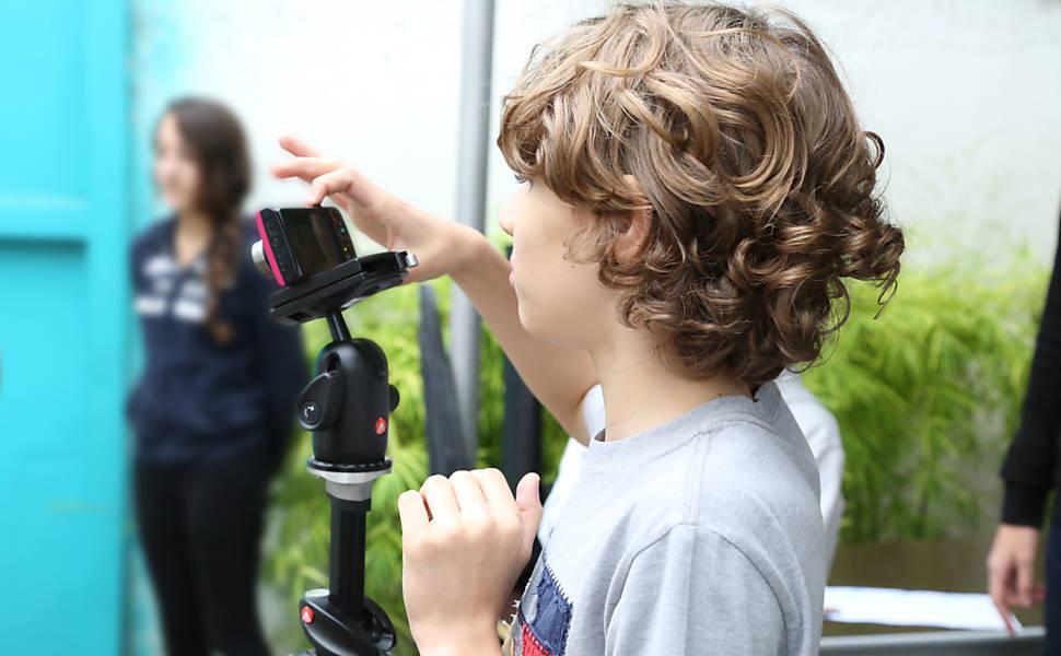 Crianças produzem stop-motion